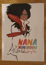 ORIGINAL Autogramm von Nana Mouskouri. pers. gesammelt. PRESSEHEFT. 100 % ECHT
