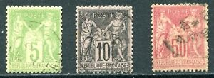 France 1898 Type I Used Lot with #107