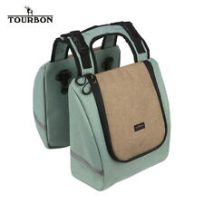 TOURBON Bicycle Double Pannier Large Insulated Cooler Lunch Picnic Bag Shopping