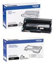 8 Virgin Genuine EMPTY & USED Brother TN450 TN420 DR420 Toner Cartridges & Drums