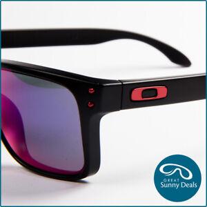 NEW Oakley Holbrook Matte Black Red Iridium (9102-36) Sunglasses
