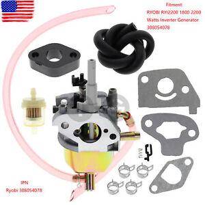 For RYOBI RYI2200 1800 2200 Watts Inverter Generator 308054078 Carburetor Carb