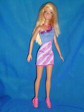 Muñeca Barbie Con Piernas Y Brazos Recto ~ ~ rubia con un vestido de un hombro