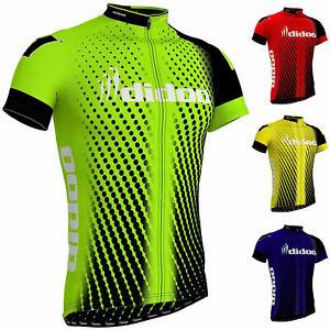Didoo Mens Cycling Jersey Short Sleeve Top Quality Biking Summer Half Shirt