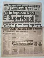 GAZZETTA DELLO SPORT 12-10-1987 NAPOLI-PESCARA 6-0 JUVENTUS-ROMA 1-0 AUT. BONIEK