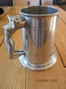 PEWTER TANKARD with naked lady handle - Holstaff Pewter, England