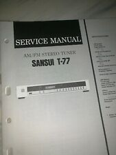 Sansui  T-77  AM/FM Stereo Tuner Service Manual #2