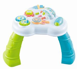 Spieltisch in bunt Rassel Greiflinge Lerntisch Motorik Spielzeug Musik Hupe toy