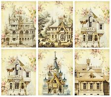 Beautiful Buildings - Glossy Finish Card Topper -  Crafts Embellishment