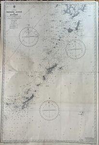 Vintage 1931 (Modified 1948) Nautical Chart of Okinawa Gunto to Kyushu