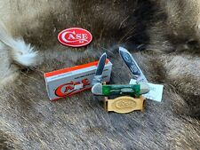 "1995 Case ""BOLD CITY CLUB"" Canoe Knife Green Bone Handles Mint In Box - 57A"