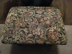 Beautiful Vintage Foot Stool Pouffe  / Sewing Box