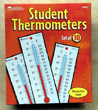 Thermometers, Student, Set of 10, Learning Resources LER0302
