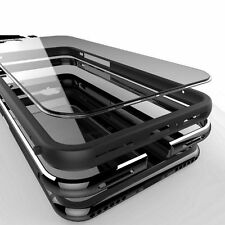 Black Luxury Aluminum Metal Bumper Ultra Thin Clear Cover Case For iPhone 7 Plus