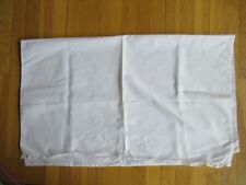 Feltman Brothers White Lace Trimmed Embroidered Baby Flat Sheet Blanket