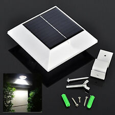4LED Outdoor Solar Powered PIR Motion Sensor Wall Light Garden Yard Path Lamp