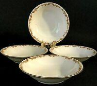 M. Z. AUSTRIA ALTROHLAU FRUIT BOWLS SET OF 4 ROYAL INNSBRUCK 18KT 5 1/8""