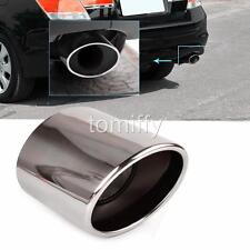 Chrome Stainless Steel Exhaust Muffler Tip Tail Pipe For Honda Accord 2008-2012