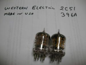 Western Electric tubes 396A  2C51