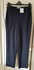 M&S navy straight leg jersey trousers size 8 regular BNWT £19.50