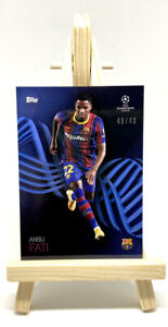 Topps UCL Knockout Ansu Fati Blue Parallel Numbered 49/49 Investment PSA🔥🔥🔥