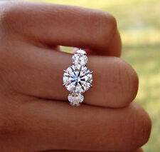 1.40 Ct. Natural Round Cut 5-Stone Diamond Engagement Ring - GIA Certified