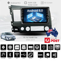 9'' MP5 Player Touch Screen Bluetooth Radio USB FM GPS TV TPMS For Honda Civic
