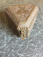 ART NOUVEAU BRASS AND WOOD TRINKET BOX