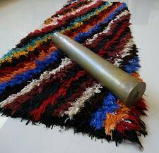 "Handmade Boucherouite Moroccan Rug Vintage Azilal Old Berber Carpet 6' x 2' 5"""