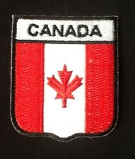 CANADA CANADIAN MAPLE LEAF NATIONAL FLAG BADGE IRON SEW ON PATCH CREST SHIELD
