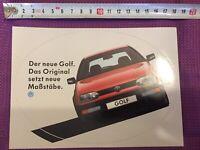 Aufkleber VW Golf 3 - Der Neue Golf. Das Original Setzt Neue Maßstäbe.