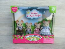 NEW~Sylvanian Families~Calico Critters NORWOOD MOUSE FAMILY New in Box~Rare