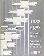 1988 Chevrolet Astro Van Elektrisch Diagnose Wartungshandbuch Schaltpläne 88