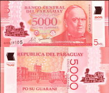 PARAGUAY - 5000 guaranies 2011 Polymer FDS - UNC