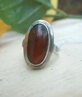 anmutiger bernstein ring vintage oder älter silber 800 17 mm 黃色奶油糖琥珀
