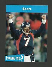 John Elway Denver Broncos Football Celebrity Collector Card