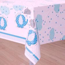 Blue Elephant Baby Shower Plastic Table Cover 210cm X 140cm. HUGE Saving