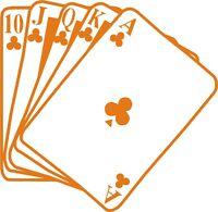 Sticker Vinilo - Poker - Escoge color y tamaño -Pegatina - Wall Decall