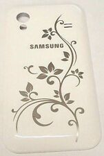 Samsung Galaxy S5830 Housing Case Battery Door Back Cover White Flower Original