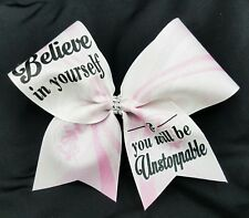 Believe in yourself & you will be Unstoppable Grosgrain Ribbon Cheer Bow