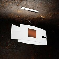 Lampadario in vetro bianco e ruggine moderno a 2 luci tpl 1121/S75-CO