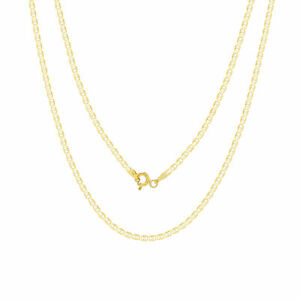 """10K Yellow Gold Solid 2mm Mariner Anchor Gucci Chain Pendant Necklace 16""""- 26"""""""