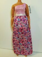 MATTEL PINK FLORAL MAXI DRESS BARBIE FASHIONISTAS FASHION CLOTHES CURVY