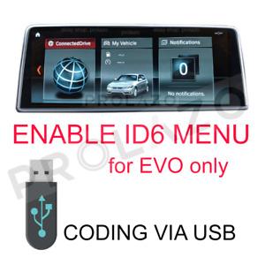 BMW enable ID6 new menu for EVO headunits via USB
