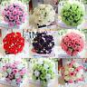 18Head Artificial Silk Roses Flowers Bridal Bouquet Rose Home Wedding Decor