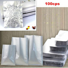 100x Aluminum Foil Mylar Bag Vacuum Bag Sealer Food Storage Package Silver