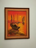 Mid Century Modern Impressionist Style, Original Oil Painting, Signed & Framed