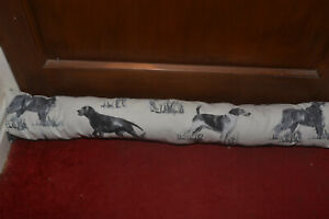Extra long Top Quality Fabric Draught Excluder, Spaniels, labrador Beagle Setter
