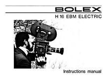 BOLEX H16 EBM ELECTRIC INSTRUCTION MANUAL FREE SHIP