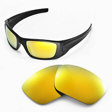New WL Polarized 24K Gold Replacement Lenses For Oakley Fuel Cell Sunglasses